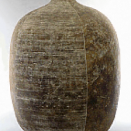 Claude Conover, American, 1907 - 1994. Lahik. Stoneware, high fired. 22 3/4 x 55 in. Purchased with funds provided by the American Art Heritage Fund. 1975.053.000. Open Storage Room (Ceramics Center), CC Tiers 39, Top Shelf (1 Mar 2014)