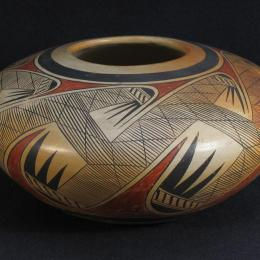Fannie Nampeyo, Native American, 1904 - 1987. Pot, 1934. Earthenware. 5 3/4 x 10 5/8 in. Gift of Mr. Malcom F. Miller. 1981.152.000. Classroom 121, CC Tiers 53, Shelf, 04 (1 Mar 2014)
