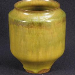 Gertrud Natzler, Austrian, active in United States, 1908 - 1971. Otto Natzler, Austrian, active in United States, 1908 - 2007. Green Vase Earthenware. 4 3/4 x 3 3/4 in. Gift of Mr. and Mrs. David C. Lincoln. 1978.099.000. Open Storage Room (Ceramics Center), CC Tiers 11, Shelf 04 (1 Mar 2014)