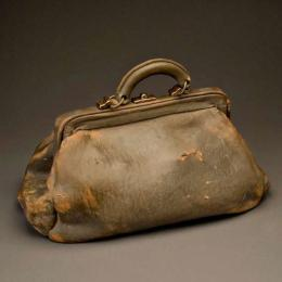"Marilyn Levine, 1935-2006, American, ""Satchel"", 1974, 8 5/8 x 14 1/2 x 7 7/8 in."