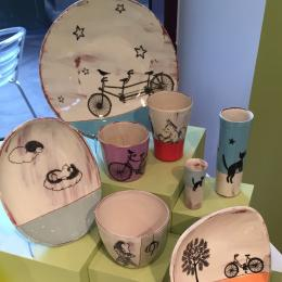 Artist: Luba Sharapan. Photo by ASU Museum Store. Luba Sharapan is a full-time potter at Darn Pottery in Greenville, Tenn. Every piece of Darn Pottery is different!