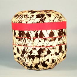 "Ed Rossbach, Japanese Plaited Basket, 1987, stapled rag paper, 11 1/2 x 12"". Collection of the ASU Art Museum, gift of Janet and Roger Robinson 2003.100.001."