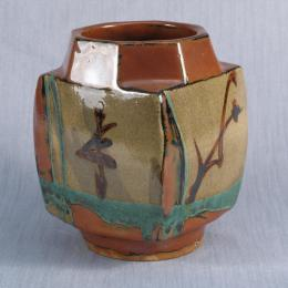 Shoji Hamada, Japanese, 1894 - 1978. Vessel. Earthenware. 8 1/2 x 5 1/2 x 5 3/4 in. Gift of Anne and Sam Davis. 1998.204.000. Open Storage Room (Ceramics Center), CC Tiers 13, Shelf 01 (1 Mar 2014)
