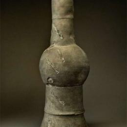 "Peter Voulkos, 1924-2002, American, ""Stacked Pot,"" 1968. 28 1/2 x 11 1/2 inch diameter"