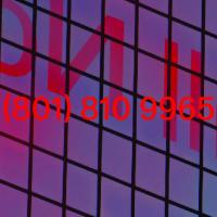Purple and pink gradient windows with text Call Now and phone number 8018109965 in red