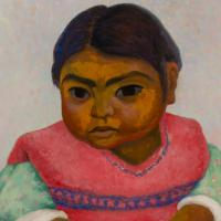 """Image credit: Diego Rivera, """"Niña Parada,"""" 1937, Oil on canvas, 31 1/2 x 23 1/2 in., Gift of Oliver B. James."""